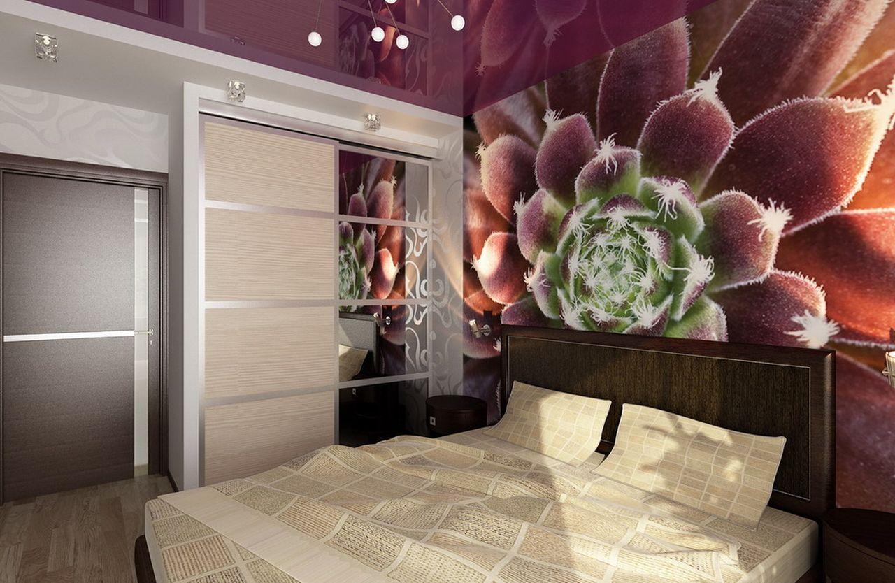 Дизайн потолков для спален в Москве